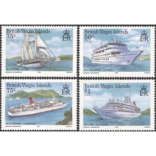 BVI/British Virgin Islands 1985 Ships/ Boats/ Sailing/ Tourism/ Transport/ Nautical/ Leisure 4v set (b4892)
