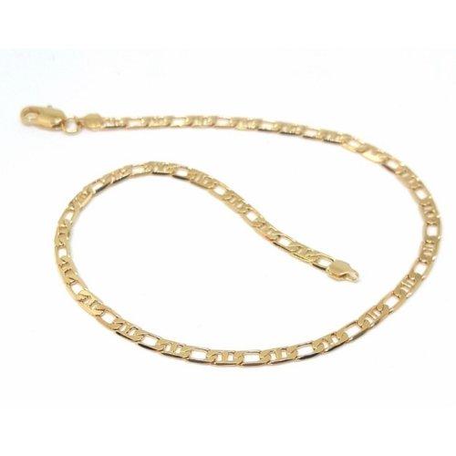 New 9CT Gold Filled Figaro Link Anklet B1