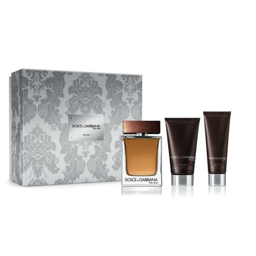 Dolce & Gabbana The One For Men - Gift Set With 100ml EDT Spray, 75ml Aftershave Balm and 50ml Shower Gel