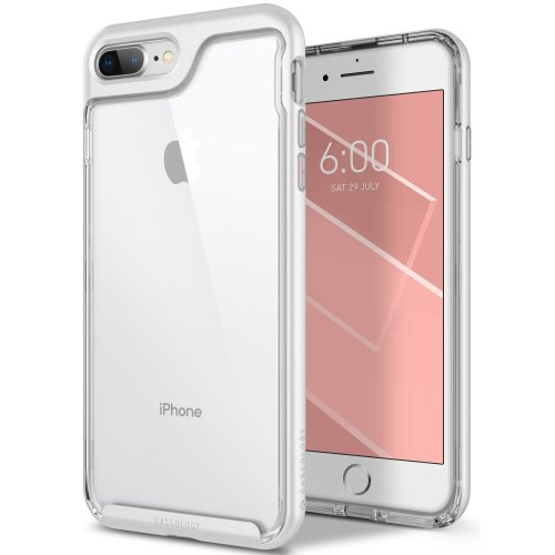 info for e5294 75083 Caseology Skyfall Series iPhone 8 Plus / 7 Plus Cover Case with Clear Slim  Protective for Apple iPhone 8 Plus (2017) / iPhone 7 Plus (2016) - White