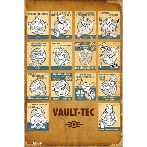 Fallout 4 Vault Tec Compilation Maxi Poster