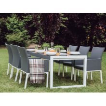 Beliani BACOLI Outdoor Table & Chair Set | 6 Seater Garden Dining Set