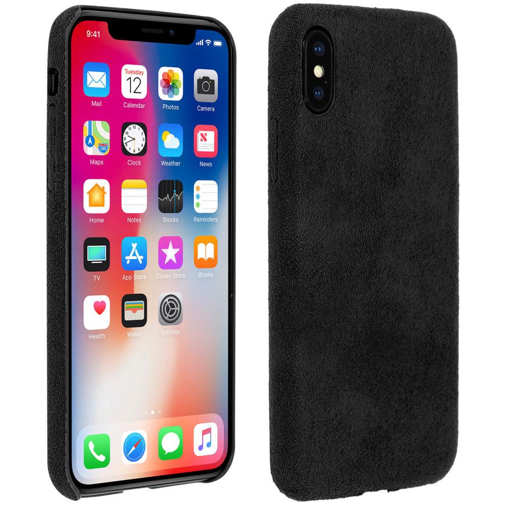 the latest 70d70 23f7b Velvet shock absorbing cover slim rear case for Apple iPhone X - Black
