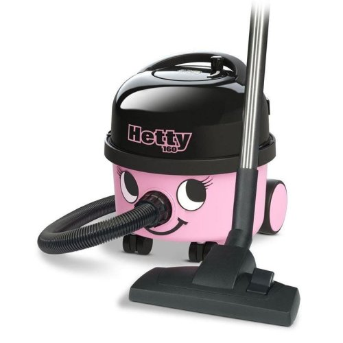 Numatic Hetty Compact Vacuum Cleaner 620W - Pink/Black With 10 M Cable (HET160)