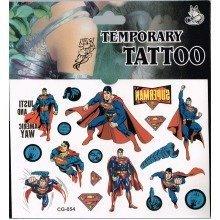 Superman Tattoo Sheets - 3 Pack