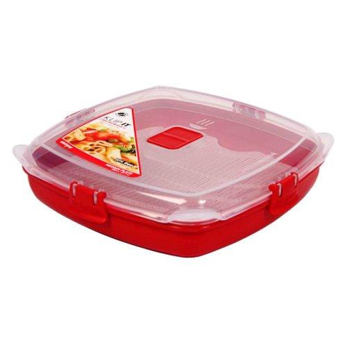 Sistema Klip It Microwave Plate with lid 880ml, Medium