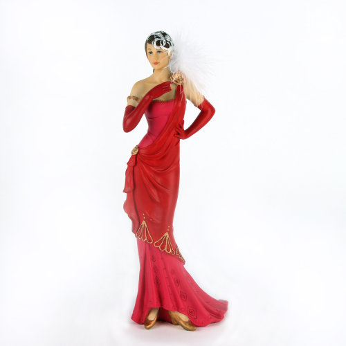 Lillian Red and Pink Charleston Figurine
