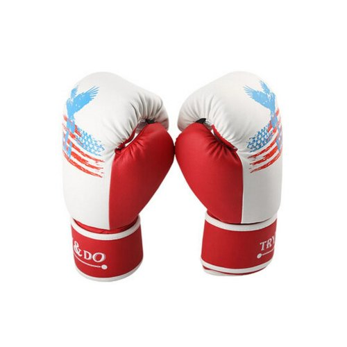 Professional Cool Adult Boxing Gloves Training Gloves RED, 12 Ounce