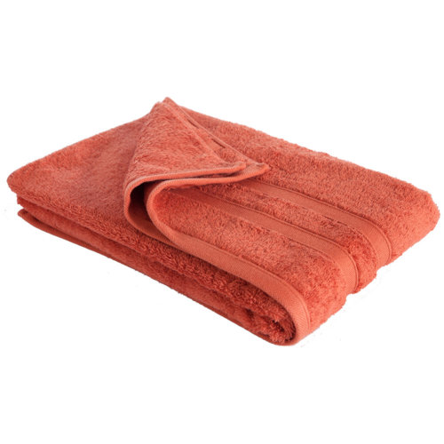 New Egyptian Cotton Soft High Quality Solid Color Washcloth Bath Towel Flannel, Orange (34x75cm)