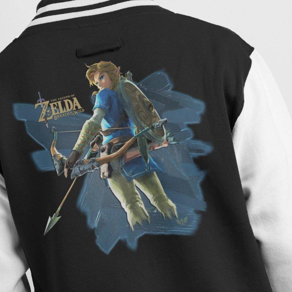 Link Zelda Breath Of The Wild Arrow Men's Varsity Jacket