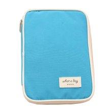 Water-proof Multi-function Travel Wallet Card Passport Holder Organizer Blue