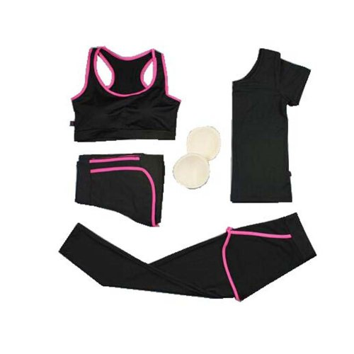 Fitness Training Set, Women's 4 Pieces Tracksuits Jogging Outfits, Yoga Suit
