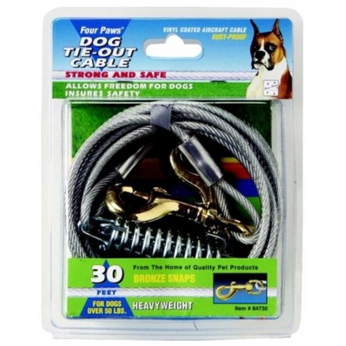 Four Paws - Heavy Tie Out Cable- Silver 30 Feet - 100203840-84730