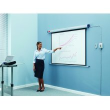 Nobo Electric Wall Projection Screen 1600x1200mm