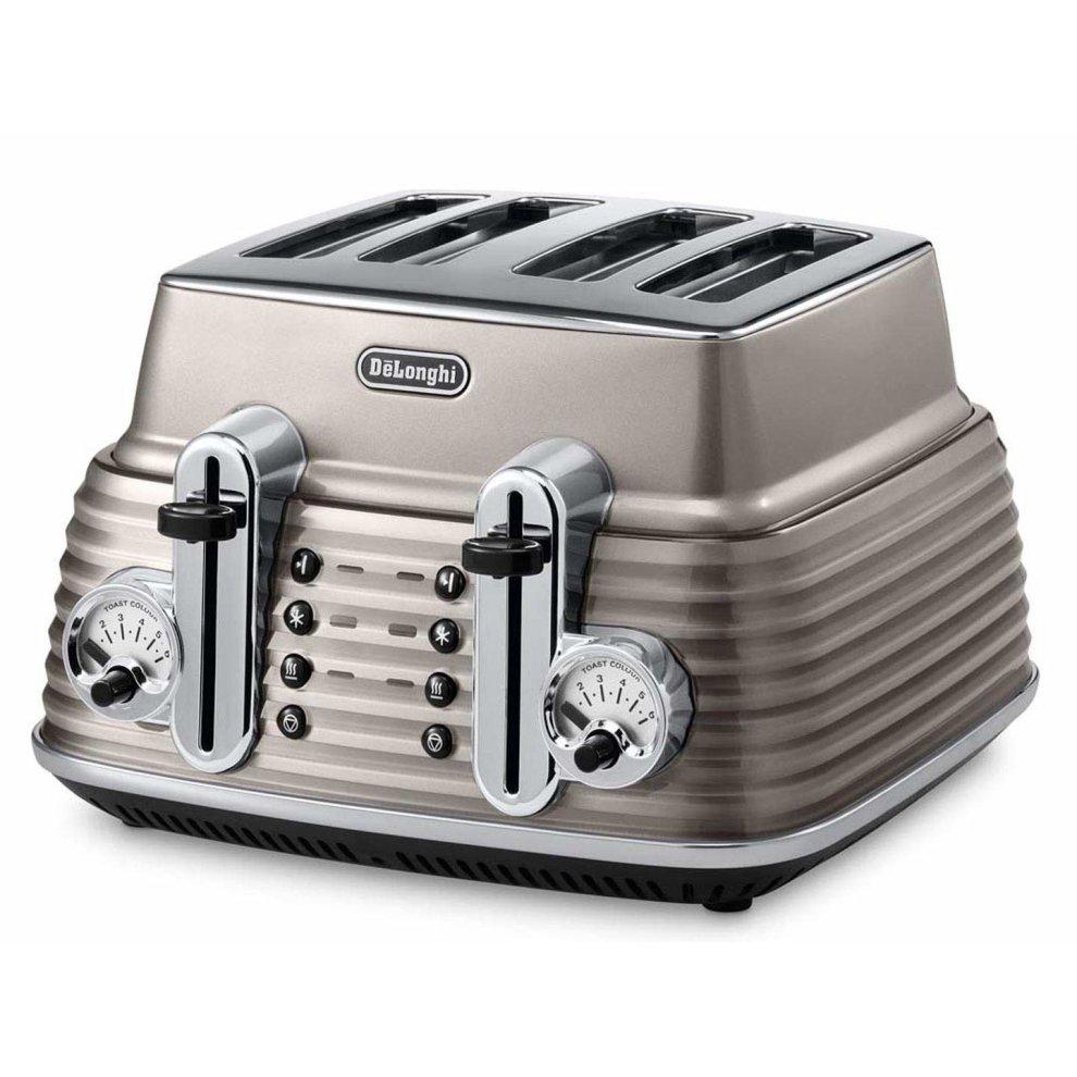 DeLonghi Scultura CTZ4003BG  4-slice Toaster - Champagne