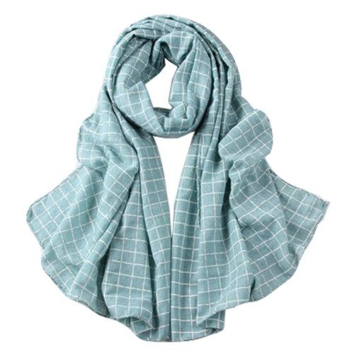 Grid Scarves Winter Warm Female Scarves Infinity scarf/shawl,Green