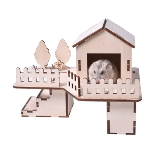 [H] Hamster Wooden Toy Hamsters DIY Habitat Pet Supplies for Small Animal
