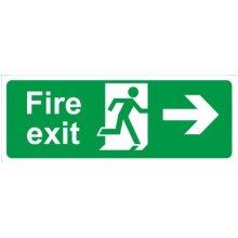 Fire Exit Arrow Right Rigid Foamex 400mm x 150mm - Castle Promotions -  castle promotions fire exit arrow right rigid 150mm 400mm polypropylene ss012f