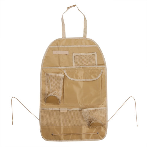 TRIXES Beige Organiser for Car Backseat & Pushchairs