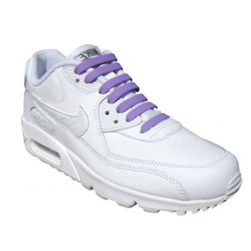 Purple Elastic Silicone No Tie Shoelaces For Trainers