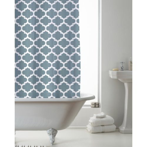 Country Club Shower Curtain Moroccan Teal 180 x 180cm