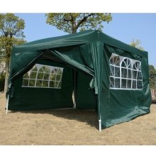 Outsunny 3mx3m Pop Up Gazebo Party Tent Canopy Water