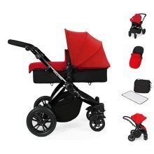 Ickle Bubba Stomp V2 All in One Travel System - Red on Black Frame