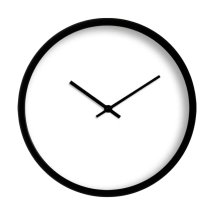 """Black and White Simple Style Blank Wall Clock Modern Wall Clock Home Decor 12"""""""