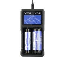XTAR VC2 USB Li-Ion LCD 18350 CR123A 18650 Battery Charger