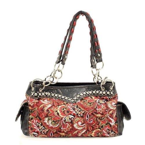 Blazin Roxx N7545404 Womens Purse Handbag Satchel Paisley - Red