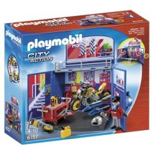 Playmobil 6157 My Secret Motorcycle Workshop Play Box