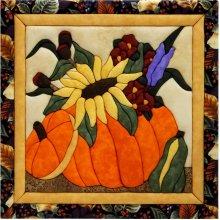 Flowers In A Pumpkin Quilt Magic Kit-Flowers In A Pumpkin