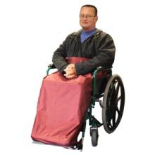Waterproof Wheelchair Leg Cover / Wrap, Fleece Lined, Easy Access
