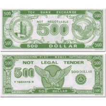 Paper Play Money (1000 $500 Bills Per Package)