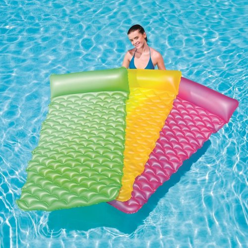 "Bestway Inflatable float'n Roll Swimming Pool Air Bed Lounger Float Mat 84""x34"""