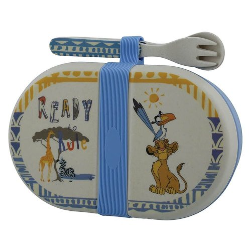 The Lion King Simba Organic Snack Box with Cutlery Set