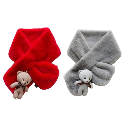 Set of 2 Cute Kids Scarves Children's Scarves Suitable for Winter [T]