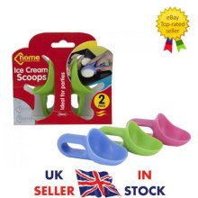 Pack Of 2 Ice Cream Scoops - 2pc Hard Mould Shape Party Various Colours Summer -  2pc ice cream scoops hard mould shape party various colours summer