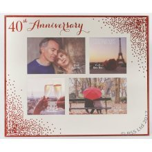 40th Anniversary Celebrations Sparkle Collage Photo Frame WG83640