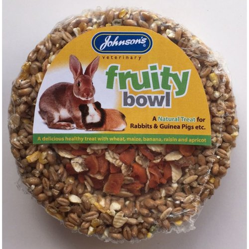 Jvp Rabbit & Guinea Pig Fruity Bowl 180g (Pack of 8)