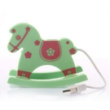USB 2.0 4-Port Mini Hub Computer Multi-function Hobbyhorse USB Hubs Floret GREEN