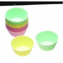 5cm Pack Of 12 Sweetly Does It Silicone Mini Cake Cases Assorted Colours