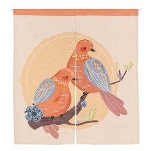 Office, Restaurant, Dinning Area Door Curtain 85x90CM Birds Lover