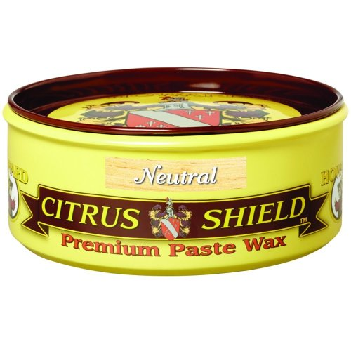 Howard Citrus Shield Premium Paste Wax with Beeswax, Orange Oil & Carnauba Wax for Wood. 312g, 11oz