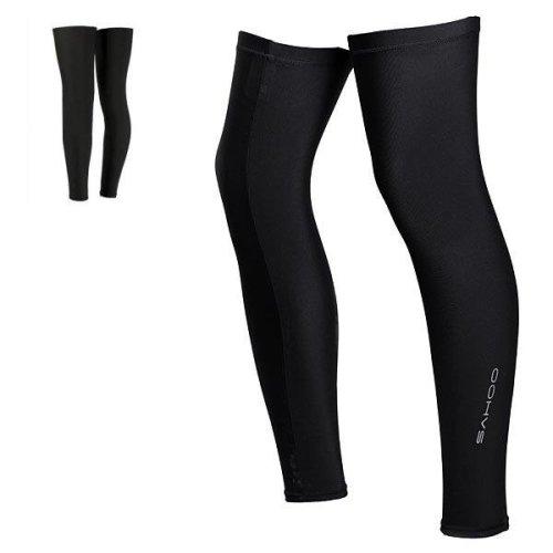 SAHOO Bike Bicycle Cycling Leg Warmer Guard Knee Warmer Sleeves Black