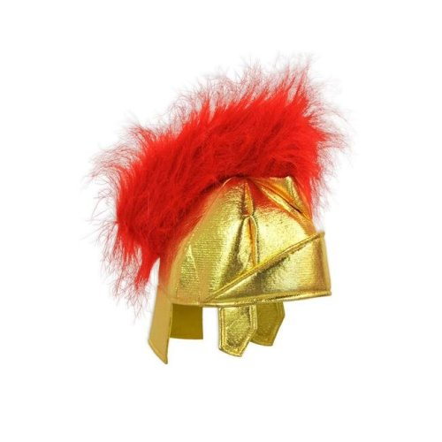 Fabric Roman Helmet, Gold & Red - Pack of 6