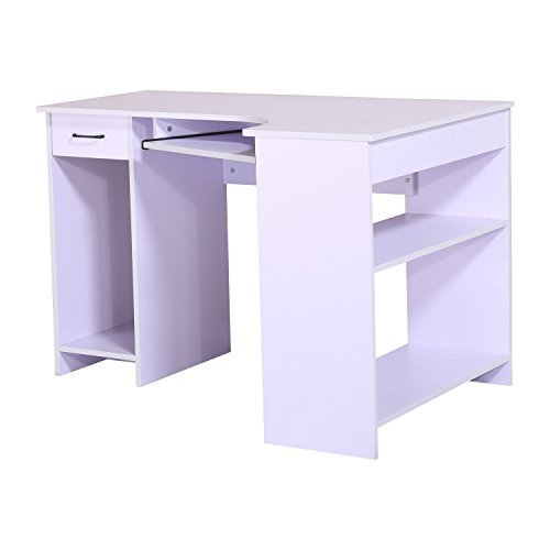Homcom Computer Pc Desk Workstation with Drawer
