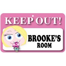 Keep Out Door Sign - Brooke's Room