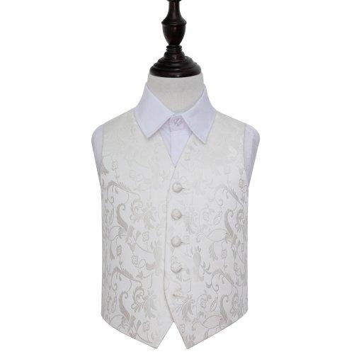 Ivory Floral Wedding Waistcoat for Boys 28'