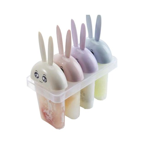 DIY Ice Cream Mold Household Popsicle Ice Lolly Mold, Little Rabbit Four Color